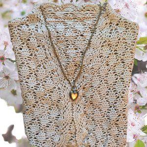 Hand Crochet Cap Sleeve Vest